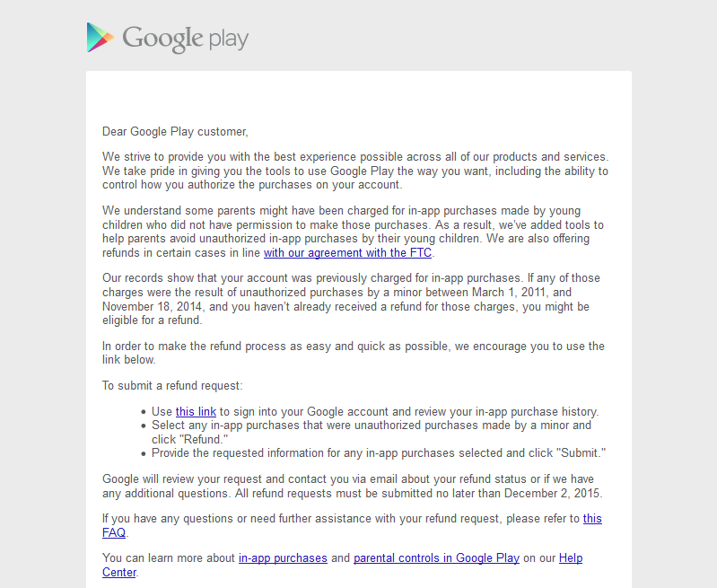 Google play refund in app purchase to customer 01